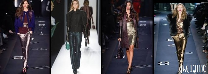 metallic trend report fashion fall winter 2013 2014