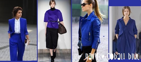 navy and cobalt blue trend report autumn winter